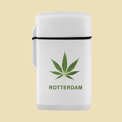 Aansteker Jet Flame Wit Rotterdam Wiet Blad
