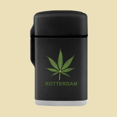 Aansteker Jet Flame Zwart Rotterdam Wiet Blad