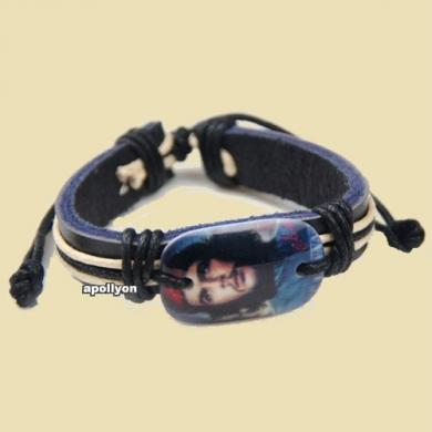 Bracelet Leather Che Guevara Blue