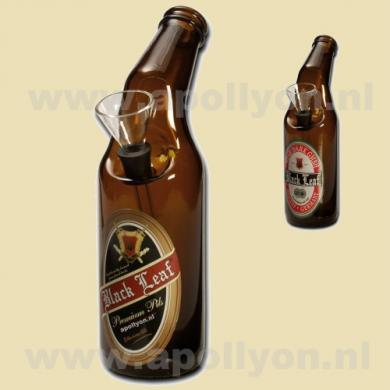 Bong Black Leaf Bier 20cm