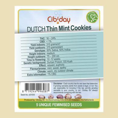 Dutch Thin Mint Cookies