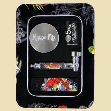 Gift Set Dragon Metal Pipe Grinder