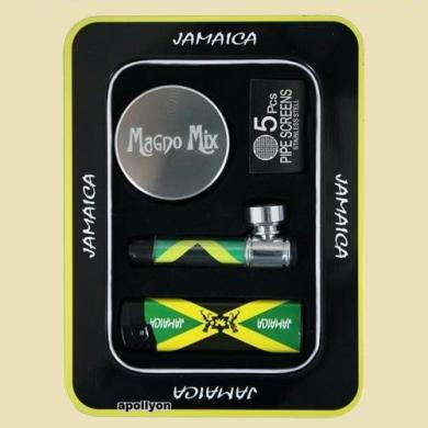 Giftset Jamaica Metalen Pijp Grinder