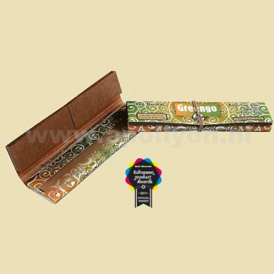 Greengo unbleached 2 in 1 King Size slim papers & filter tips