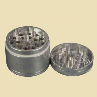 Grinder alu 4 parts Silver  50mm