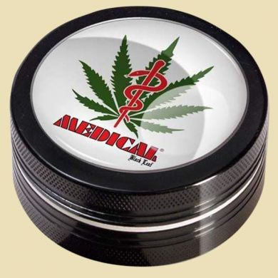 Grinder Black Leaf Medical  (2-delig)