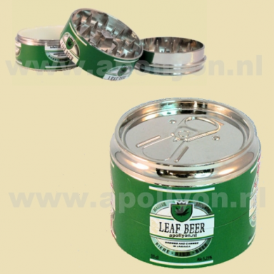Grinder Metal Can Beer Green