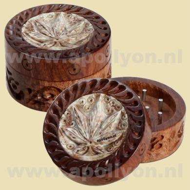 Grinder Mini Rosewood Weed Carved