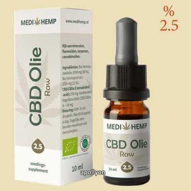 MediHemp Raw CBD Olie 2,5%