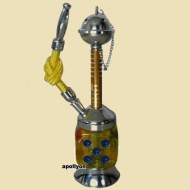 Mini Hookah Dobbelsteen Geel