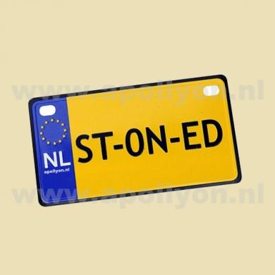 Nummerplaat ST-ON-ED Klein Magnetisch