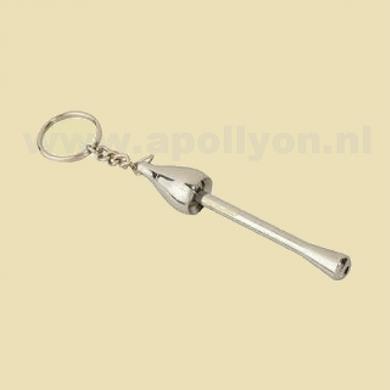 Pipe Keychain Metal Mushroom