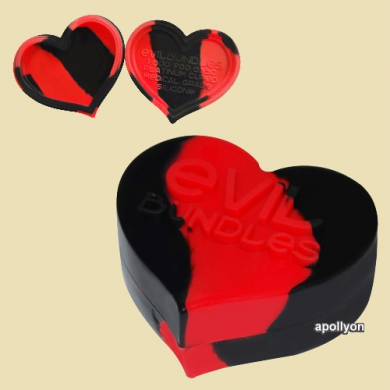 Silicone Wax Jar Heart