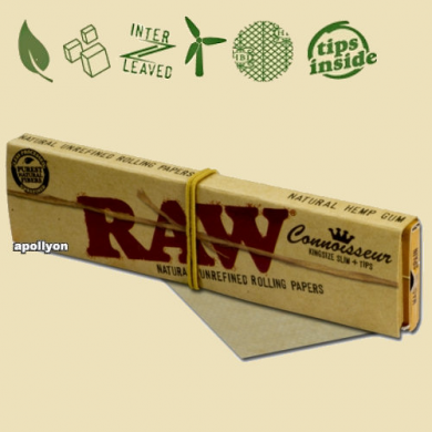 Raw Connoisseur Papers King Size Slim and Tips