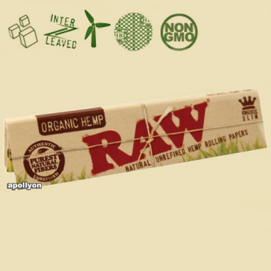 Raw Organic Hemp Papers King Size Slim