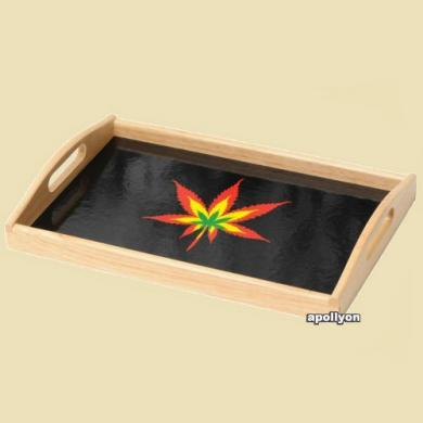 Roll Tray Weed Leaf Rasta