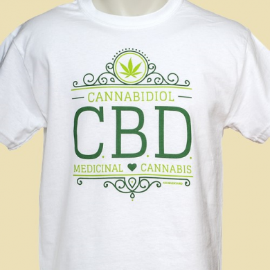 T-shirt CBD Medical Cannabis 420Backyard White