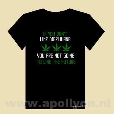 THC Shirt Weed Future Zwart