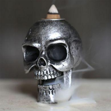 Wierookhouder Kegel Doodskop Silver