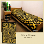 Batik Sheet YinYang Psychedelic