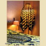 Batik Laken YinYang Psychedelisch