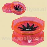 Grinder Acrylic Weed Leaf Pink