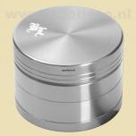 Grinder Black Leaf 50 Aluminium Zilver In Box (4-delig)