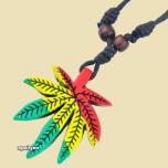 Necklace Rasta Cannabis Leaf