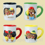 Coffee Mug Rasta Set 4x