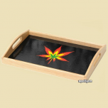 Roll Tray Weed Leaf Rasta