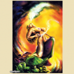 Trippy Poster Smoking Woman